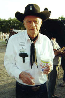 Gerald at the Abilene Rodeo in August 1999.
